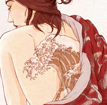 La chica del kimono. A Illustration project by David Rendo García - 17-08-2016