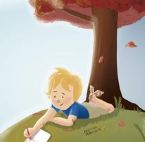 Borrador para portada de cuento Infantil. A Illustration project by Agustina Perciante         - 17.12.2015