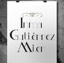 Creación de una tipografía. A T, pograph, and Lettering project by Inmaculada  Gutiérrez Mier         - 22.08.2016