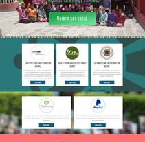 Proyecto Web-Site Creciendo en Nepal . Um projeto de Web design de Álvaro Baquero         - 28.01.2016