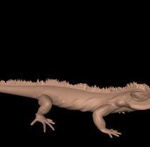 Iguana realizada en Autodesk Mudbox. A 3D project by Susana Costoya         - 21.07.2016
