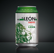 "AMSTEL ""El Leon"".. A Illustration, Art Direction, Br, ing&Identit project by AITOR MARTINEZ ROLLAN         - 01.09.2016"
