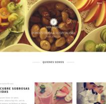 Pagina Web realizada para el un restaurante.. Un proyecto de Diseño Web de Emilio Jesús Pérez Pileta         - 11.08.2016