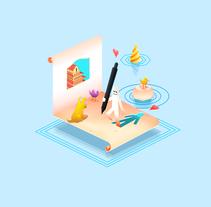 From Paper to Pixels - Illustrations. Un proyecto de Dirección de arte, Diseño e Ilustración de Narciso Arellano - 06.09.2016