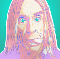 Iggy Pop. A Illustration project by Andre Filipe Sousa - 06-09-2016