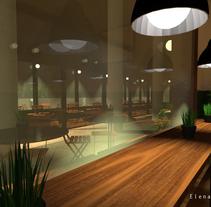PROPUESTA PROYECTO RENOVACIÓN BAR-CAFETERÍA. A Interior Architecture project by Elena Menor Huidobro         - 07.06.2015