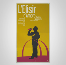 L'Elisir d'Amore. A Graphic Design, and Set Design project by Chavo Roldán         - 26.04.2008