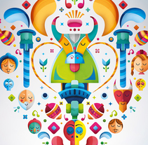 Festival Conmemorando la Fundación de Silao. Um projeto de Design, Ilustração, Publicidade, Br, ing e Identidade e Artes plásticas de Erik Gonzalez         - 19.09.2016