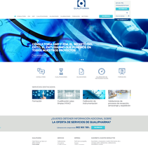 Diseño de Página web - Qualipharma. . Un proyecto de Diseño Web de Néstor Tejero Bermejo - 26-09-2016