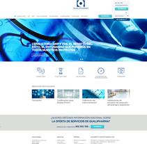 Diseño de Página web - Qualipharma. . A Web Design project by Néstor Tejero Bermejo - 26-09-2016