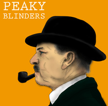 Peaky Blinders. A Illustration, and Painting project by Pablo Sartal         - 21.09.2016