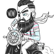 PIRATES 'DU JOUR'. Un proyecto de Ilustración y Diseño de personajes de Chris Lago - 21-09-2014