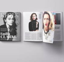 KFOLK Magazine - Proyecto maquetar revista. A Editorial Design project by Laura Fernández - 06-10-2016