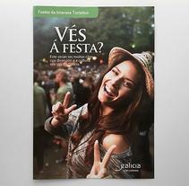 Díptico Fiestas de Interés Turístico de Galicia. Un proyecto de Dirección de arte, Diseño, Diseño editorial y Diseño gráfico de Luis Torres  - Martes, 10 de mayo de 2016 00:00:00 +0200