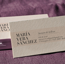 Tarjetas de visita · María Vera Sánchez. Un proyecto de Diseño gráfico de Cristina L. N.         - 11.02.2014