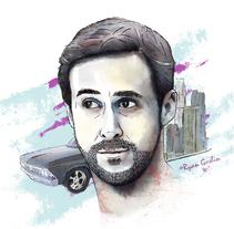 Ryan Goslin: Drive. Un proyecto de Diseño, Ilustración y Diseño gráfico de Carlos Vicente Punter - 19-10-2016