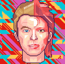 Retratos Pixel Art. A Illustration project by Galamot Shaku         - 29.10.2016
