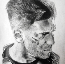 Retrato Jon Bernthal como Punisher (Daredevil). A Illustration, Film, Video, TV, Fine Art, and Film project by helena diaz         - 29.10.2016