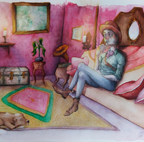 Living room. A Illustration, Character Design, and Fine Art project by Inma MC         - 30.10.2016