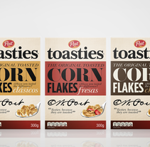 Post Toasties - cereales. Un proyecto de Packaging y Tipografía de Vania Nedkova         - 02.12.2014