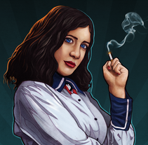 Bioshock Infinite: Burial at Sea. A Illustration, and Graphic Design project by Rubén Megido - Nov 08 2016 12:00 AM