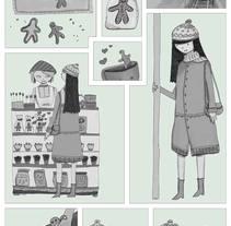 Ilustración digital: The beauty and the biscuit. Un proyecto de Ilustración de Bonaria Staffetta         - 01.10.2016