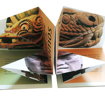 Propuesta de folleto para 50 aniversario del Museo Nacional de Antropología e Historia de México. Um projeto de Design, Design editorial e Design gráfico de Eliza Escalante         - 05.04.2014
