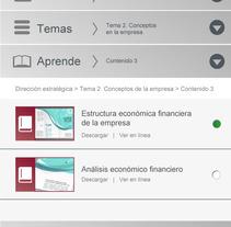 Diseño de plataforma elearning a medida. A Education, and Web Design project by Montserrat Garcia Gomez         - 16.03.2016