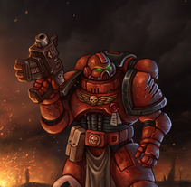 Warhammer 40K Space Marine. A Illustration project by Rubén Megido - Nov 22 2016 12:00 AM