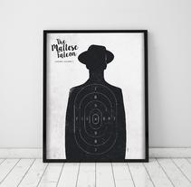 Póster The Maltese Falcon. A Graphic Design project by Mónica Grützmann         - 29.03.2016
