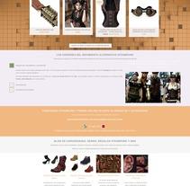 Tienda de Ropa Steampunk. Um projeto de Web design de Jose Luis Torres Arevalo         - 31.03.2016
