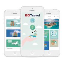 Bdtravel mobile app. Um projeto de UI / UX, Design gráfico e Design interativo de Alejandro Gómez Naranjo         - 28.11.2016