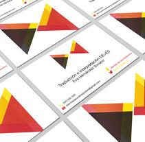 Diseño tarjeta de visita. Um projeto de Br, ing e Identidade e Design gráfico de Alba Mª Beltrán Calvo - 14-12-2016