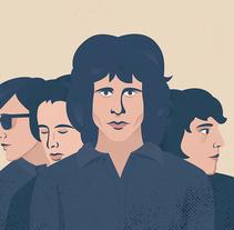 The Doors Music Pill. Un proyecto de Ilustración de Eva Mez         - 25.01.2017