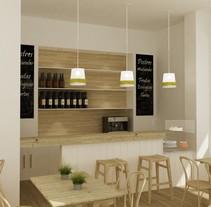 Modelo en 3D para proyecto de cafetería en Soho Málaga. Un proyecto de Diseño, 3D, Arquitectura, Diseño gráfico, Arquitectura de la información y Arquitectura interior de DIKA estudio         - 03.02.2014