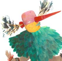 Trisbus en Un año Silvestre. A Design&Illustration project by Sandra Fiz         - 22.12.2016