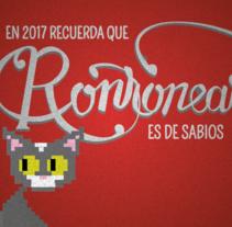 Este es mi xmas para este año :) Mi gatita se llama Pixel. Um projeto de Design e Tipografia de Cris López Coloma         - 23.12.2016