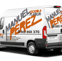 Diseño para la rotulación de la furgoneta de Manuel Pérez.. A Graphic Design project by Pablo Deparla         - 27.12.2016