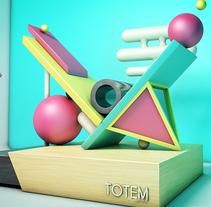 Totem Óscar Raul. A 3D, and Graphic Design project by Oscar Raúl Muñoz Portela - Jan 03 2017 12:00 AM