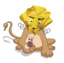 El león y el ratón. Un proyecto de Ilustración y Educación de Serina Maio         - 11.01.2017