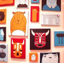"""""""101 Faces"""". Un proyecto de Ilustración, Instalaciones y Pintura de Mickael Brana - 15-01-2017"""