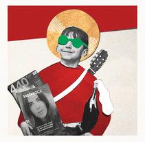 Felicitació de Nadal i Portada Enderrock digital amb Gavaldà i Trau. A Graphic Design, and Collage project by Júlia  - 19-12-2016