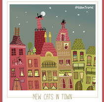 New cats in town. A Illustration project by Valentina Urdaneta Urdaneta         - 19.12.2016