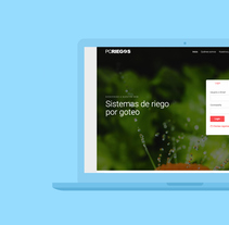 Web empresa de riego por goteo. A Web Development project by Kike Algarra         - 22.01.2017