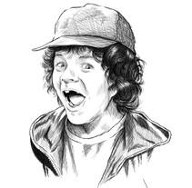 Dustin, Stranger Things. A Illustration project by Javier Garcia Gonzalez         - 06.02.2017