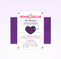 Henar&Oscar. Un proyecto de Diseño gráfico de Aroa Diez - 30-04-2015