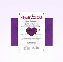 Henar&Oscar. A Graphic Design project by Aroa Diez - 30-04-2015