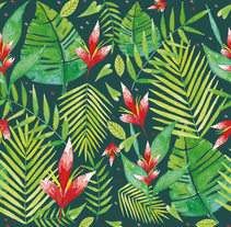 Tropical Leaves . A Design, Illustration, and Painting project by André Gijón - Feb 13 2017 12:00 AM