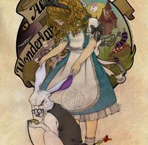 Alicia en el Pais de las Maravillas - Ilustración. Un proyecto de Ilustración de Ana Belén Vázquez Ostos         - 13.02.2016