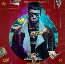 Dinero lloviendo Anuel AA  . A Design, Lighting Design, and Street Art project by Cristian Espeza Cruz - 19-02-2017